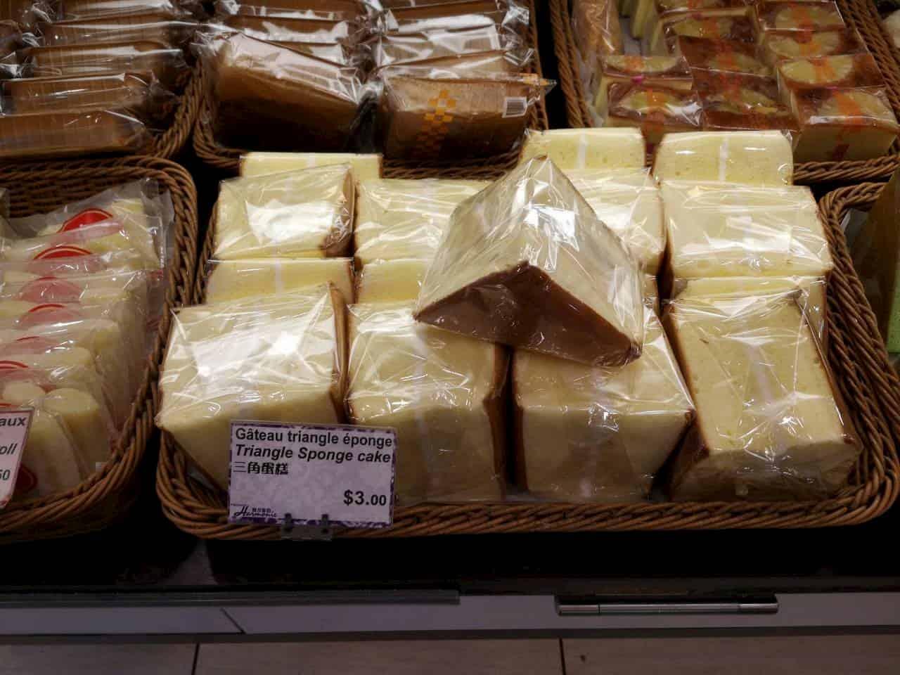 ショーケースに並ぶ蒸しパン