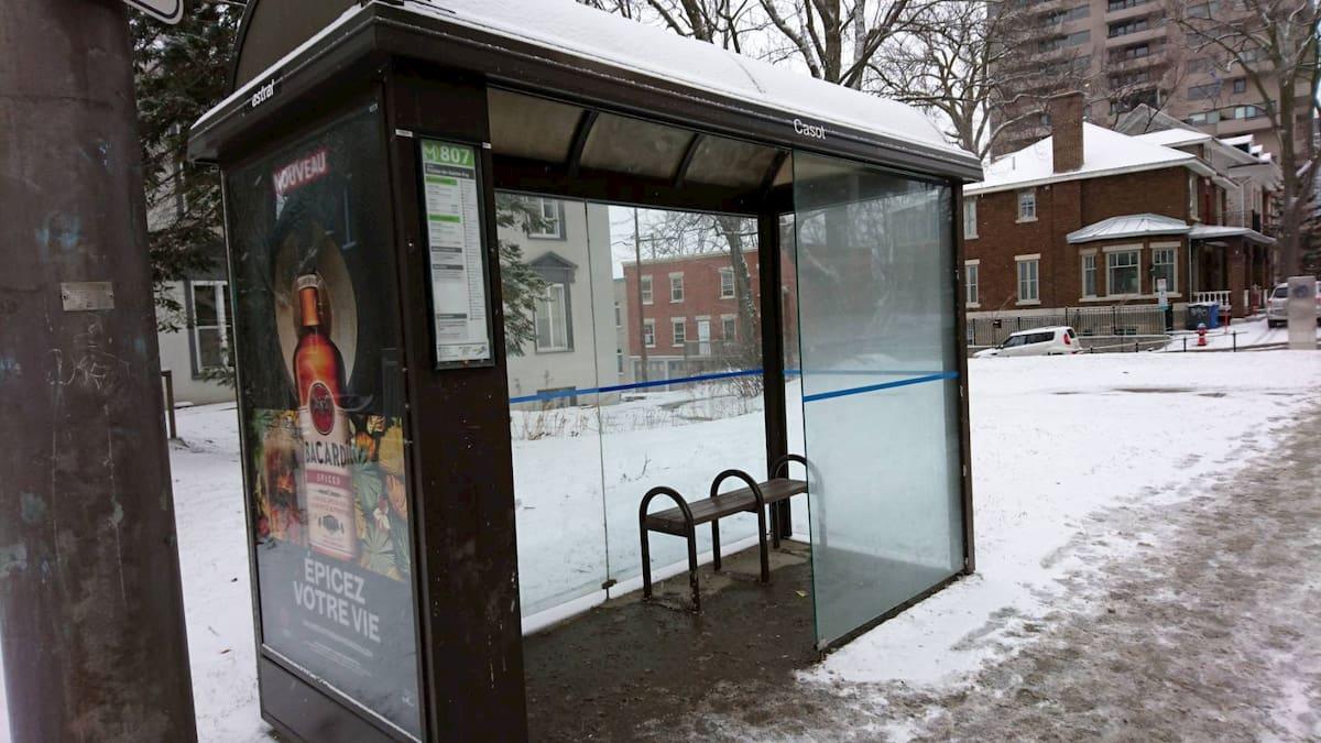 ケベックのバス停