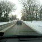 ケベックの雪が積もった道路
