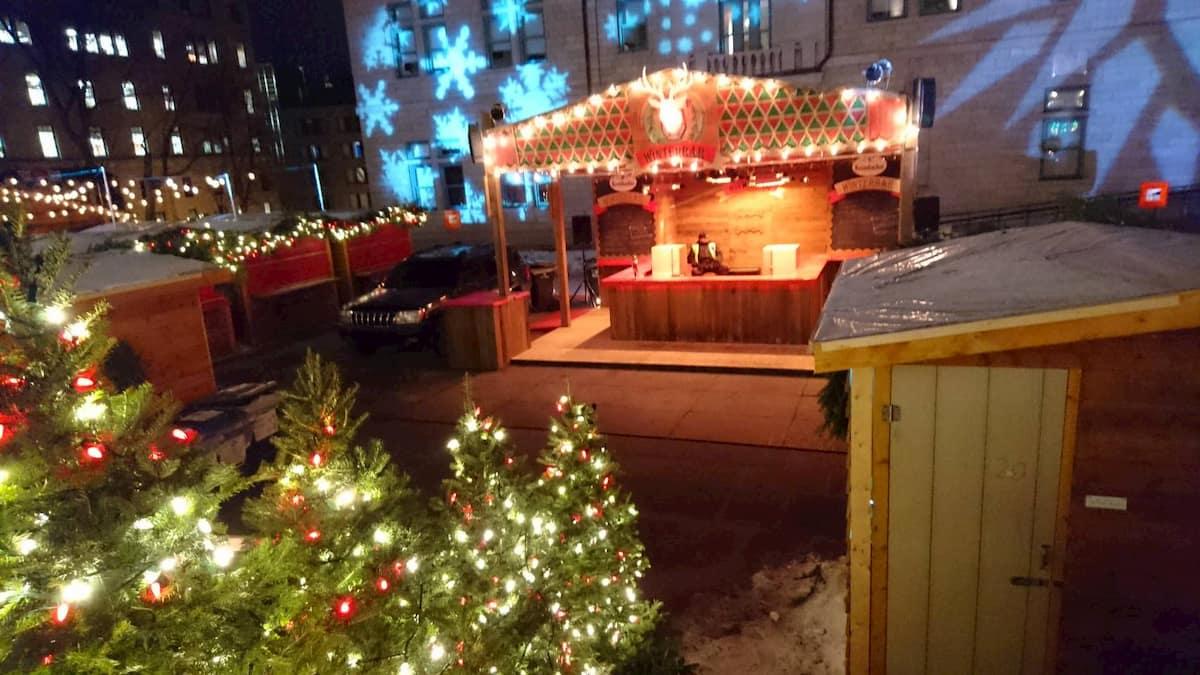 ケベックシティのクリスマスマーケットのバー