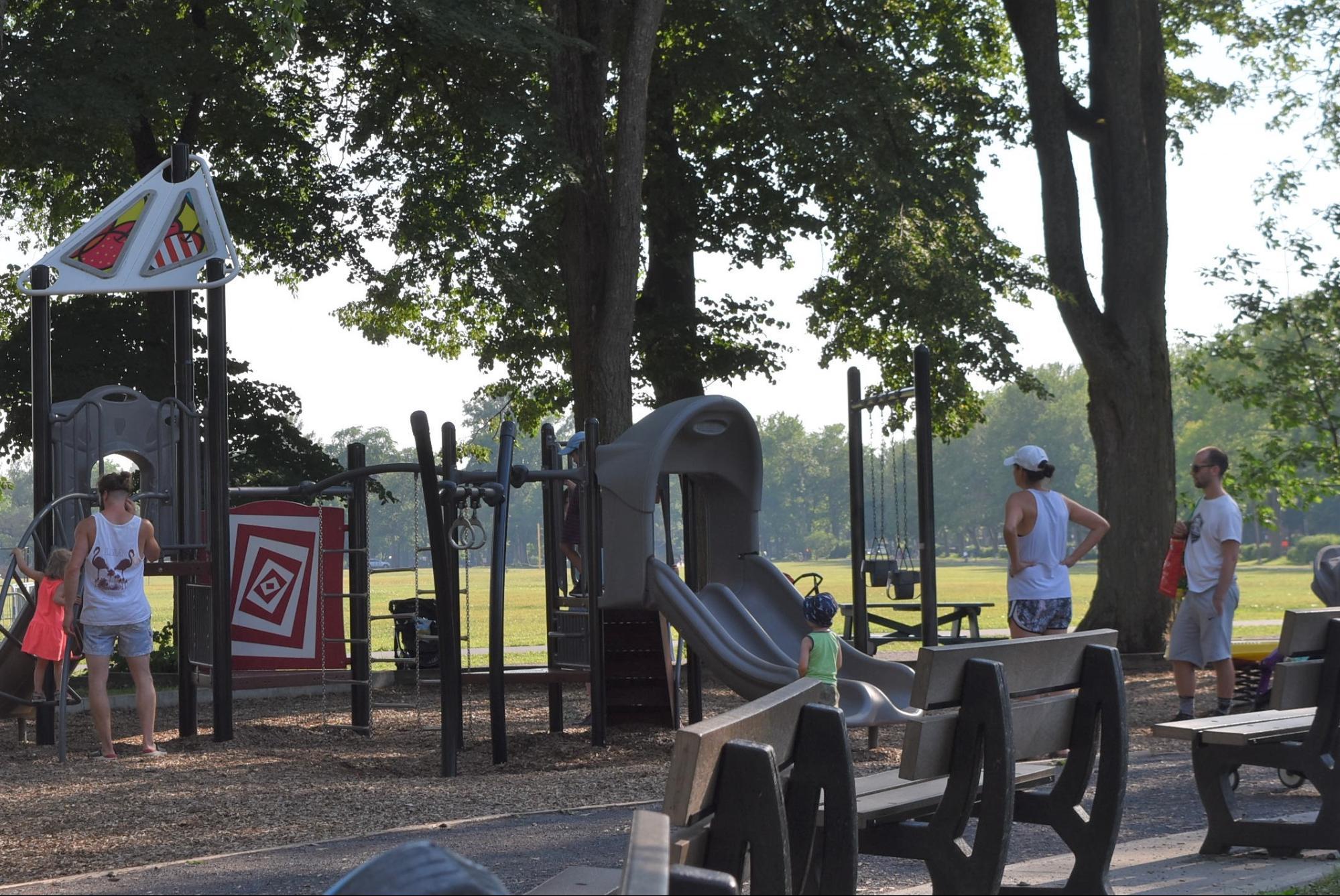 午後5時の公園(夏季)